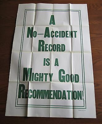Rare 1930 Massive Maryland Casualty Insurance  Car Poster Prevent Accidents