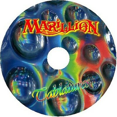 Marillion Bass & Guitar Tab Tablature Cd Best Of Greatest Hits Song Book Rock