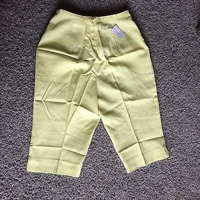 NOS Womens Jantzen Bermuda Shorts Yellow Vintage Sz 16 (Size 8-10) High Waist
