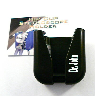 Stethoscope ID Hip Clip,belt clip stethoscope holder includes your name n white