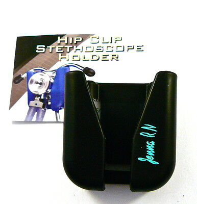 Stethoscope ID Hip Clip,belt clip stethoscope holder includes your name n tourq