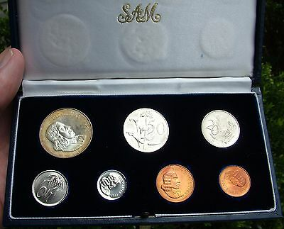 1966 South Africa  Proof Set SILVER RAND R1 1R 50C 20 10 5 2 1 cent