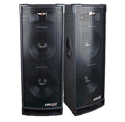 "2 Epic Audio EPX12.28C DUAL 12"" 2400 Watt DJ/PA/ PRO Speaker 3-Way 8-Ohm Passive"