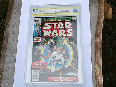 Star Wars 1977 # 1:::signed Carrie Fisher::cbcs 9.2::rare Ss Signature