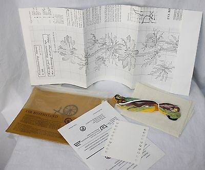 Vintage Eva Rosenstand Counted Cross Stitch Kit Pheasants Eye Floral Bell Pull