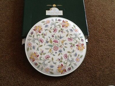 Boxed Minton Haddon Hall Cake Plate - 1st Quality China.  Boxed