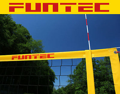 Funtec  Pro Beach Volleyballnetz PLUS inkl Netzantennen PLUS
