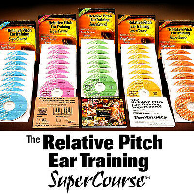 RELATIVE PITCH EAR TRAINING  - Absolute Perfect NEW CDs