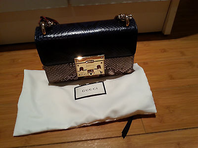 b041b5696 NEW GUCCI PADLOCK Mini Snakeskin shoulder bag with tags and dust bag ...