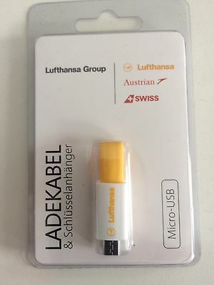 Lufthansa Micro  USB Key Chain - Star Alliance, Airlines - New/ Neu for Androide