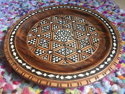 indian asian mother of pearl tray plate antique