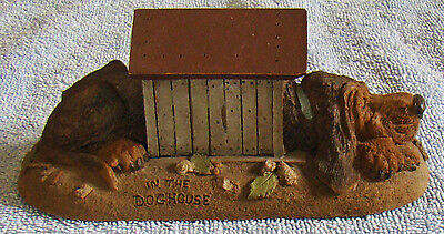 IN THE DOGHOUSE 1997~Clark/Wolfe Gnome Cairn #9127 Ed 51