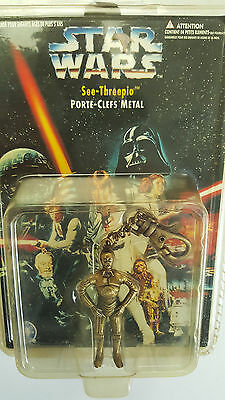 Porte-Cle Metal Star Wars C-3Po Placo Toys Super Toy Mgm Inyernational 1996 Neuf