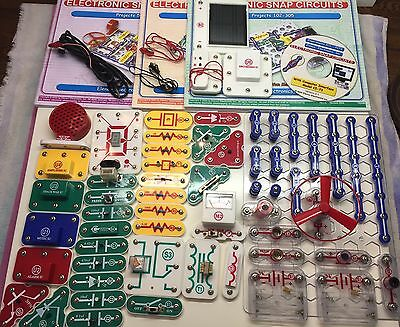 Snap Circuits Extreme SC-750 with Manuals and Computer Interface Disk (No Box)