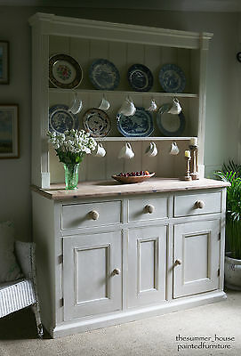 Stunning Vintage Shabby Chic Farmhouse Welsh Dresser Painted in Farrow & Ball