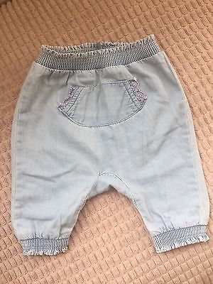 Next Baby Girl Denim Trousers Size Up To 3 Months
