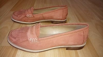 New Anthropologie's KMB (Spanish make) Nubuck Rose Loafers for Ladies UK6 (39EU)