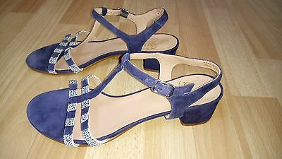 New Otre Danish make Suede Navy & Blue sandals for ladies UK6 (39EU)