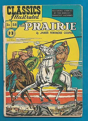 Classics Illustrated Comic  early edition The Prairie James Fennimore Cooper#876