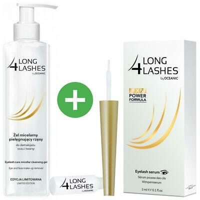 Long4lashes Wimpernserum FX5 3ml +Augen / Make Up Entferner Reinigungsgel 250ml