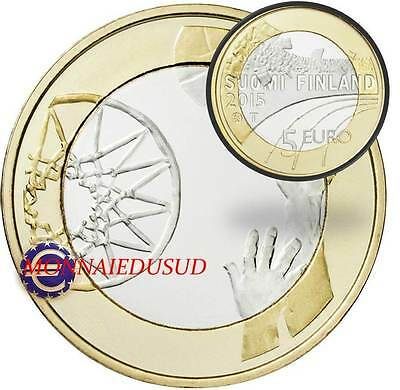 5 Euro Commémorative Finlande 2015 - Basket-Ball