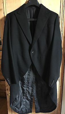 INCREDIBLE Vintage Huntsman Savile Row Bespoke Tailcoat Tuxedo 40 42