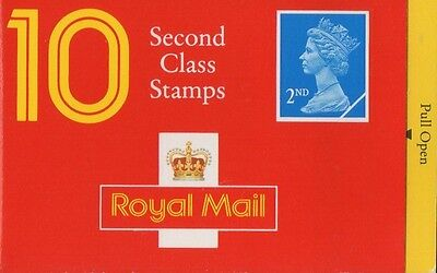 GB QEII 1993 Barcode Cylinder Booklet - 10 x 2nd Class NVI - HC11