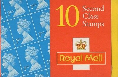 GB QEII 1998 Barcode Cylinder Booklet - 10 x 2nd Class NVI - HC22
