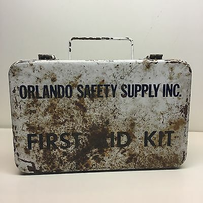 Vintage Metal First Aid Kit For Wall Mount Orlando Safety Supply Inc