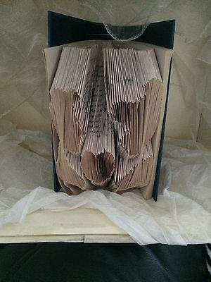 Book folding art pattern Cinderella &the Princes heads folded book (pattern only