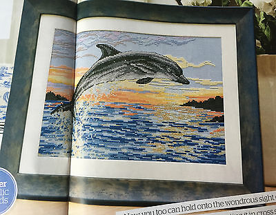 CROSS STITCH CHART Leaping Dolphin in the Ocean Picture Orca Design PATTERN ONLY