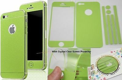 TCD for Apple iPhone 4 4S Leather [LIME GREEN] Vinyl Full Body Sticker Skin F...