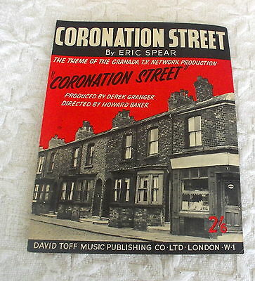 Vintage Coronation Street Original Sheet Music  By Eric Spear Copyright 1961