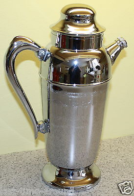 Vintage Art Deco Chrome Mixed Drink Holder