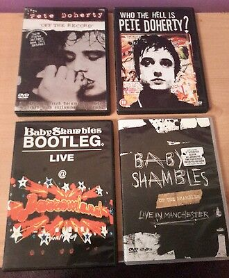 pete doherty babyshambles libertines dvds 4x