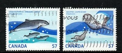 Canada 2010 Marine Life issue  - used off paper #