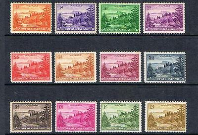 STAMPS NORFOLK ISLAND  1959 BALL BAY  SG1-12  (MLH) lot N82