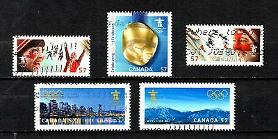### NEW ## Canada 2010 Olympics issues - used off paper #