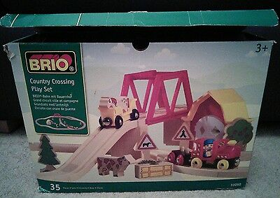 brio train set country crossing play set