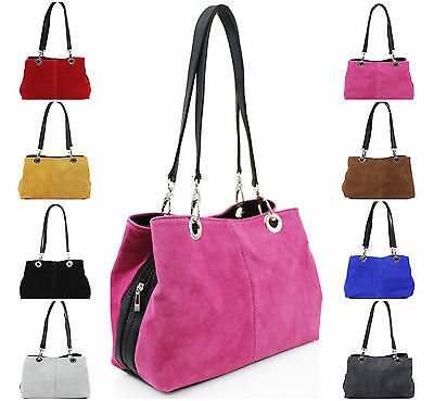 Ladies VP7 Tripple Compartment Zipped Suede Shoulder Bags Women Party Casual