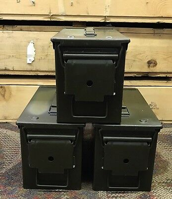 50 CAL Ammo Can (x3) USGI Field Issue US ARMY THREE PACK GREAT CONDITION