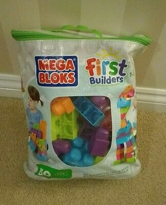 Mega bloks first builders 60 piece bag, great condition