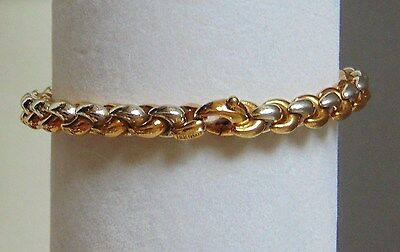ROBERTO COIN 18k Solid Yellow White Gold Link Bracelet XLNT Marked Signed 20.5 g
