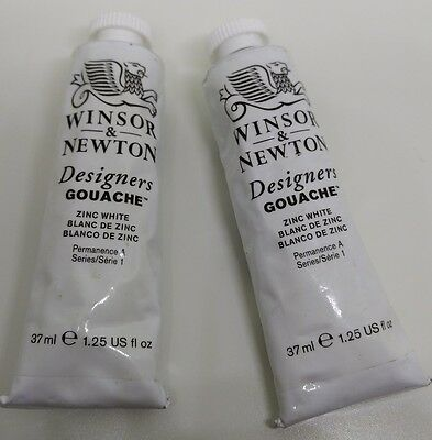 Winsor & Newton Gouache Zinc White Pigment 2 New 37ml 1.25 oz