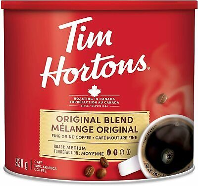 Canada Tim Hortons Original Blend Grind Coffee 930g can FRESH  🇨🇦