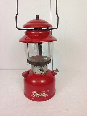 Vintage 1969 Coleman Lantern Red Model 200 T-66 Canadian Made In Canada