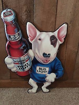 Vintage Budweiser Beer Spuds Mackenzie Metal Sign Bar Pub Man Cave Beer