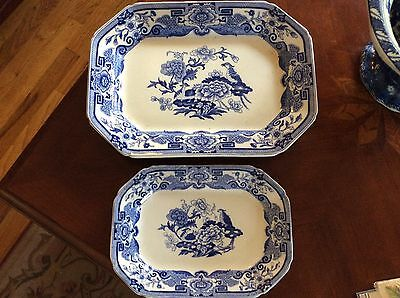 Antique Mason's Ironstone England-Large And Small Platters
