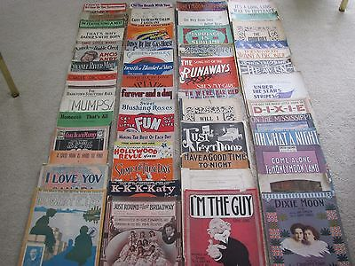 Vintage Sheet Music - Lot of 52 Songs. 1890 - 1940's  Amazing Cover Art