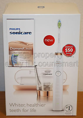 NEW Philips Sonicare DiamondClean Rechargeable Toothbrush Rose Gold HX9392/05